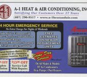 Our Advertisements | A-1 Heat & Air Conditioning Orlando, FL