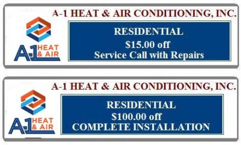 Coupons | A-1 Heat & Air Conditioning Orlando, FL