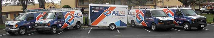 A-1 Heat & Air Conditioning service vans