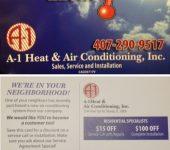 Club Membership Agreement | A-1 Heat & Air Conditioning Orlando, FL
